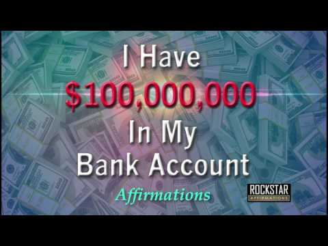 I Have 100 Million Dollars in My Bank Account - Abundance Mindset - Super-Charged Affirmations