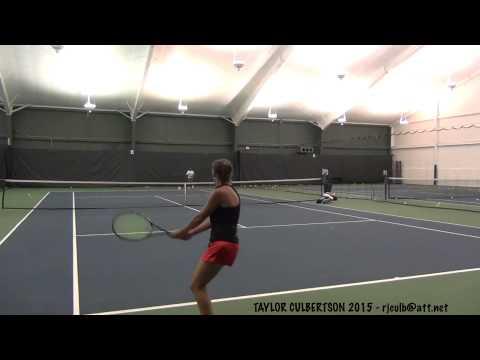 College Tennis Recruiting Video 2015 - Taylor Culbertson