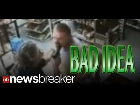 Download BAD IDEA: Crook Gets Gun in Mouth When Clerk Turns Out to be Iraq War Vet