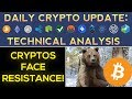 Cryptocurrencies Face MAJOR RESISTANCE! + OmiseGo News (Daily Update)