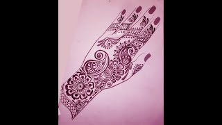 BRIDAL MEHNDI DESIGNS/EASY MEHNDI STEP BY STEP/HOW TO DRAW MEHNDI/LAYOUT OF MEHNDI