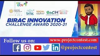 BIRAC-SoCH Innovation Challenge Award 2020-21 I Startup contest