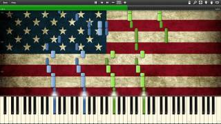 John Philip Sousa - The Stars And Stripes Forever - Synthesia Piano Solo Tutorial