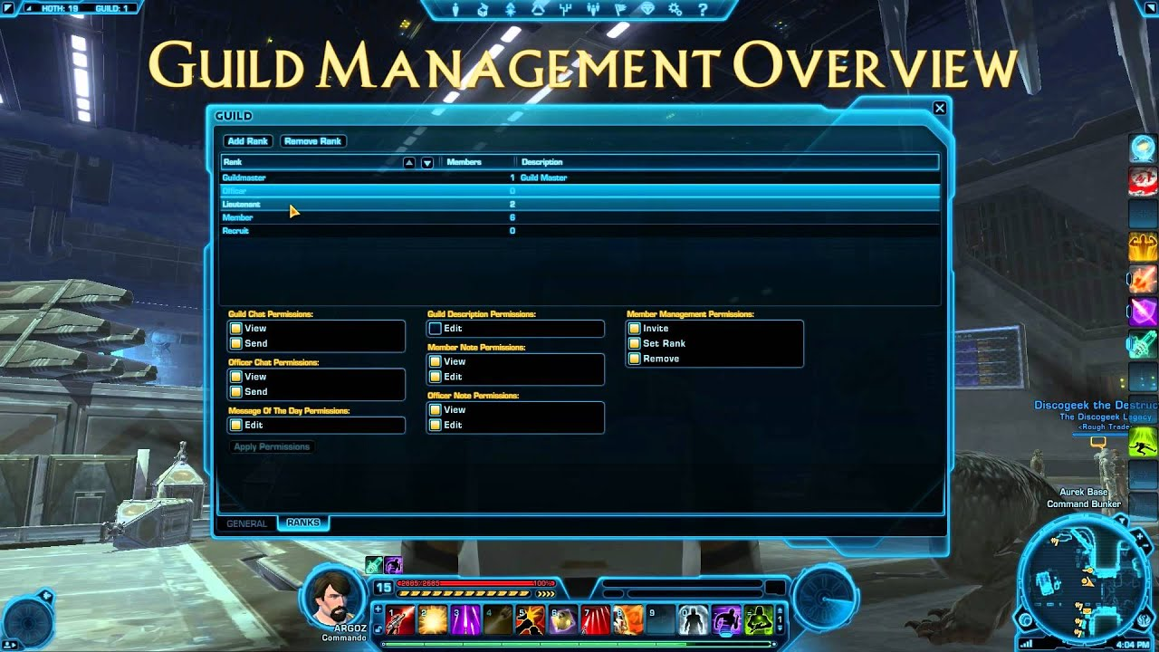 Tor Guild Management Overview Swtor Youtube