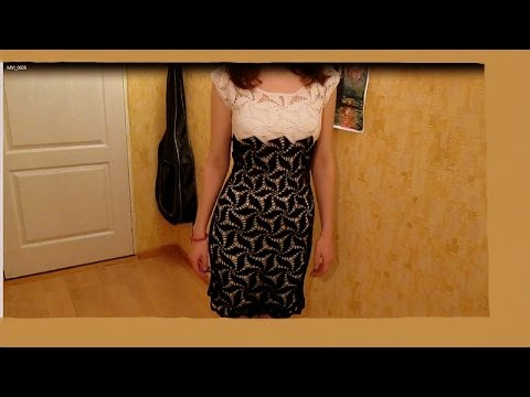 Платье мотивом мельница крючком