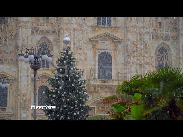 Milano Duomo prima neve in citta 2 Dicembre 2020 | Milan first snow 2 December 2020 | MilanoOffline