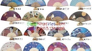 Quạt Giấy Nhật Bản Nhiều Mẫu Hoa Văn Đẹp, Chất Lượng Cao Giá Phải Chăng