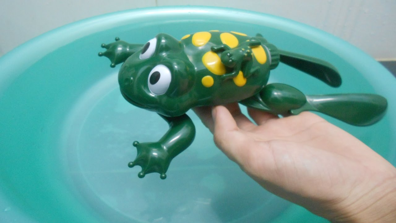 Lovely Frog Toy In Swimming Pool Water Toy For Babies Toddlers Youtube