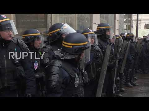 France: Protesters smash bank windows outraged by planned education reforms