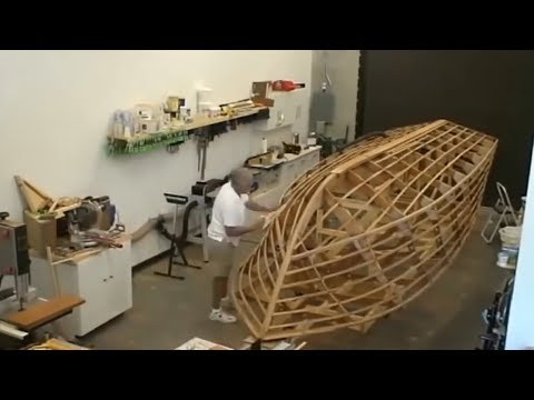 Amazing Modern Technology Skill Wooden Boat Building Process, DIY TimeLapse Construction Fast Work