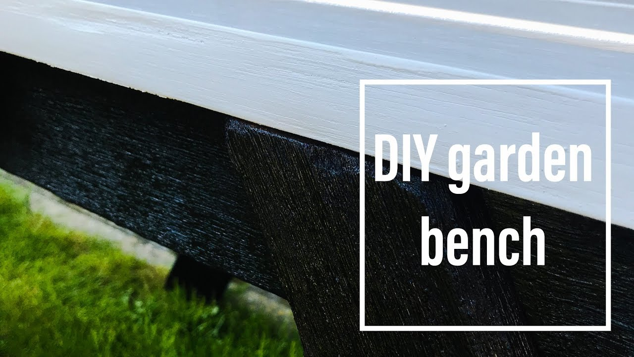 DIY Garden Bench Made From Pallets And Fire! ( And White Paint :p ) PART 1