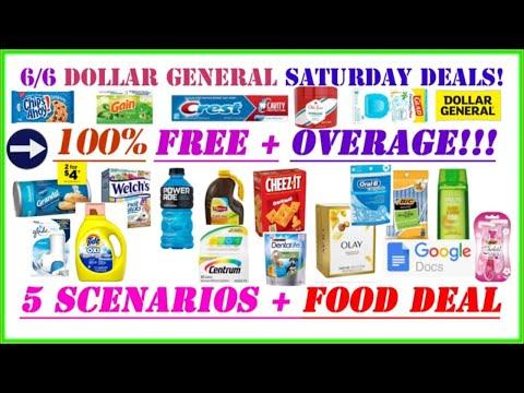 😱{FREE + OVERAGE} Dollar General Deals 6/6 + Dollar General Saturday Scenarios + ALL DIGITAL DEALS!!