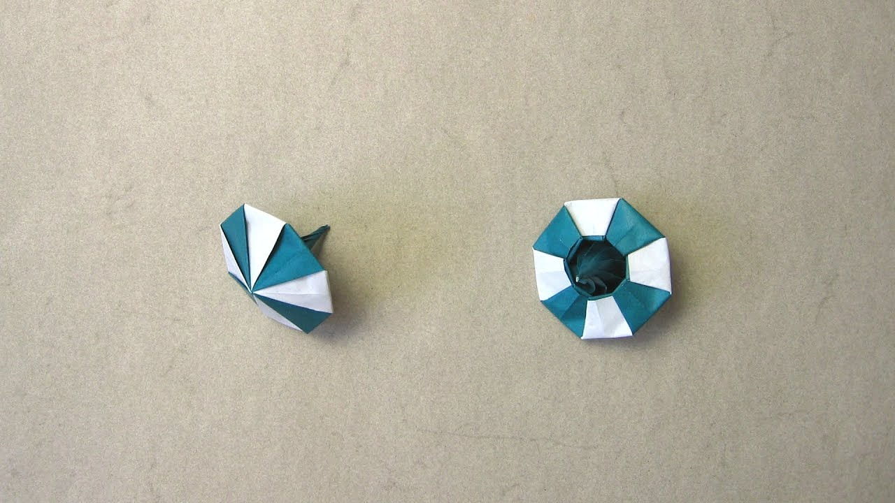 origami instructions spinning top manpei arai youtube