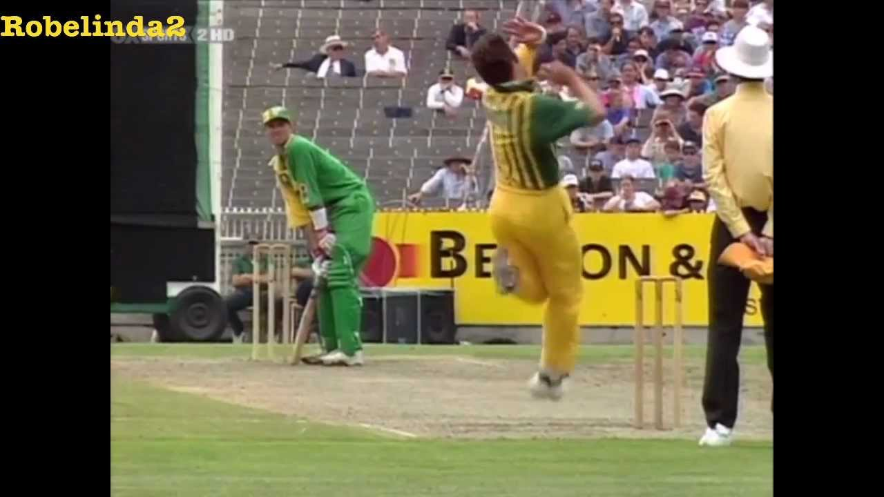 Cricket - The 'Don Bradman' shot.