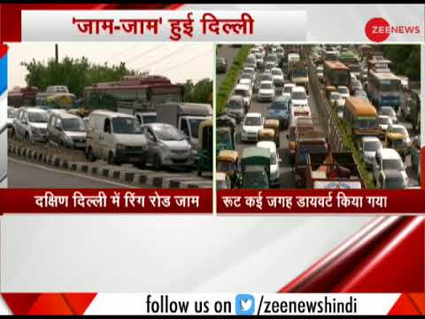 Massive traffic jam in South Delhi on Ring Road