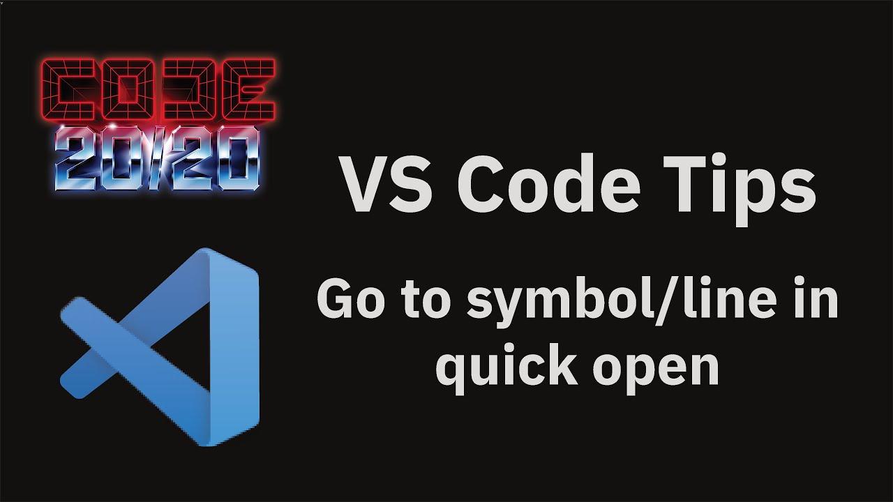 Go to symbol/line in quick open