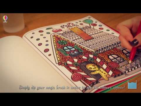 Watch pictures come to life with the Christmas Magic Painting Book