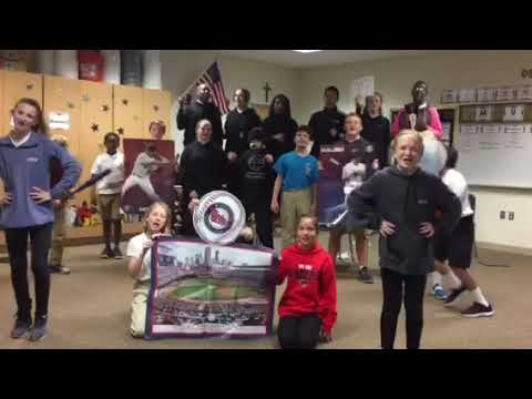"Shakopee Area Catholic School Middle School Choir performs ""We're Gonna Win Twins"""
