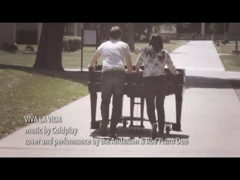 VIVA LA VIDA | Anderson & Roe Piano Duo cover | COLDPLAY