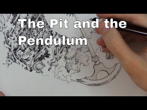 The Pit and the Pendulum ~ Edgar Allan Poe Reading and Drawing
