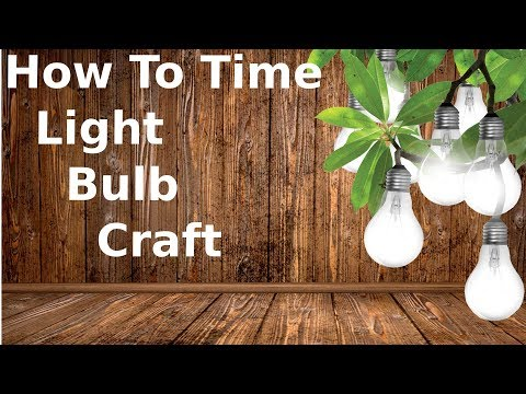 How To Make Neat Crafts By Using Old Light Bulbs!
