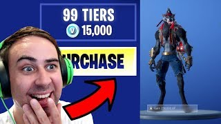 I Bought ALL 100 TIERS !! ... Fortnite SEASON 6 BATTLE PASS UNLOCKED!