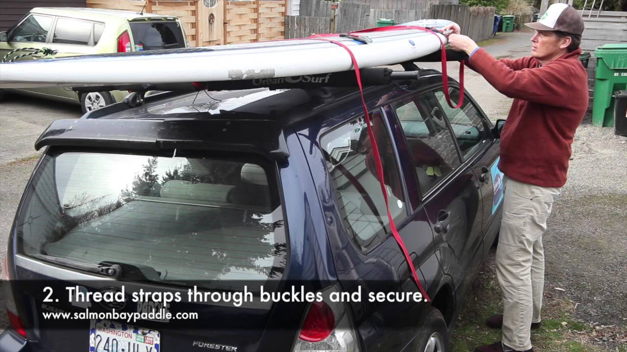 How To Tie A Paddle Board To Your Car   YouTube