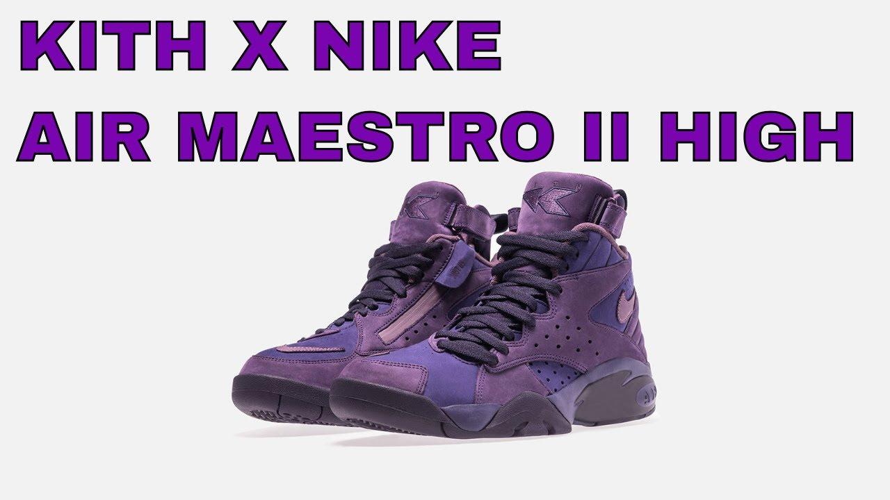 23664641c82 KITH X NIKE AIR MAESTRO II HIGH - YouTube