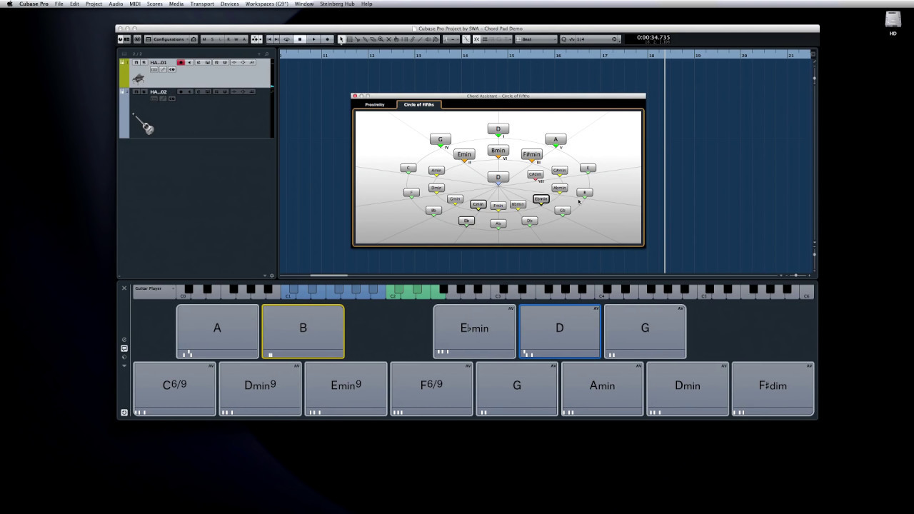 Chord Pads Assistant Modes New Features In Cubase Pro 8 About How To Easily Read Diagrams Or Often Called Stamps