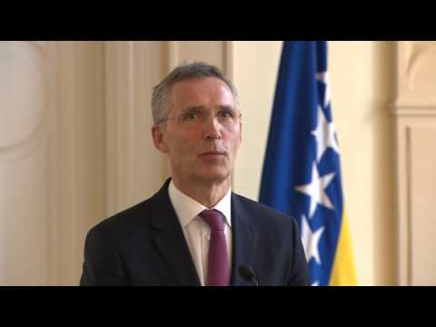 NATO SecGeneral Joint and Chairman of the Tri-Presidency of Bosnia and Herzegovina Joint Press