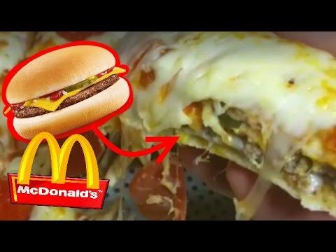 Mc Donalds Burger Pizza Foodporn Diy Bonnytrash Youtube