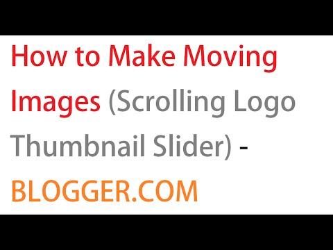 how to make a moving logo