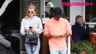 Sofia Richie & Lewis Hamilton Go On A Lunch Date Together At Fred Segal 2.8.17