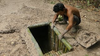 Unbelievable! Building The Most Secret Underground Bamboo House Under Pool By Ancient Skill thumbnail