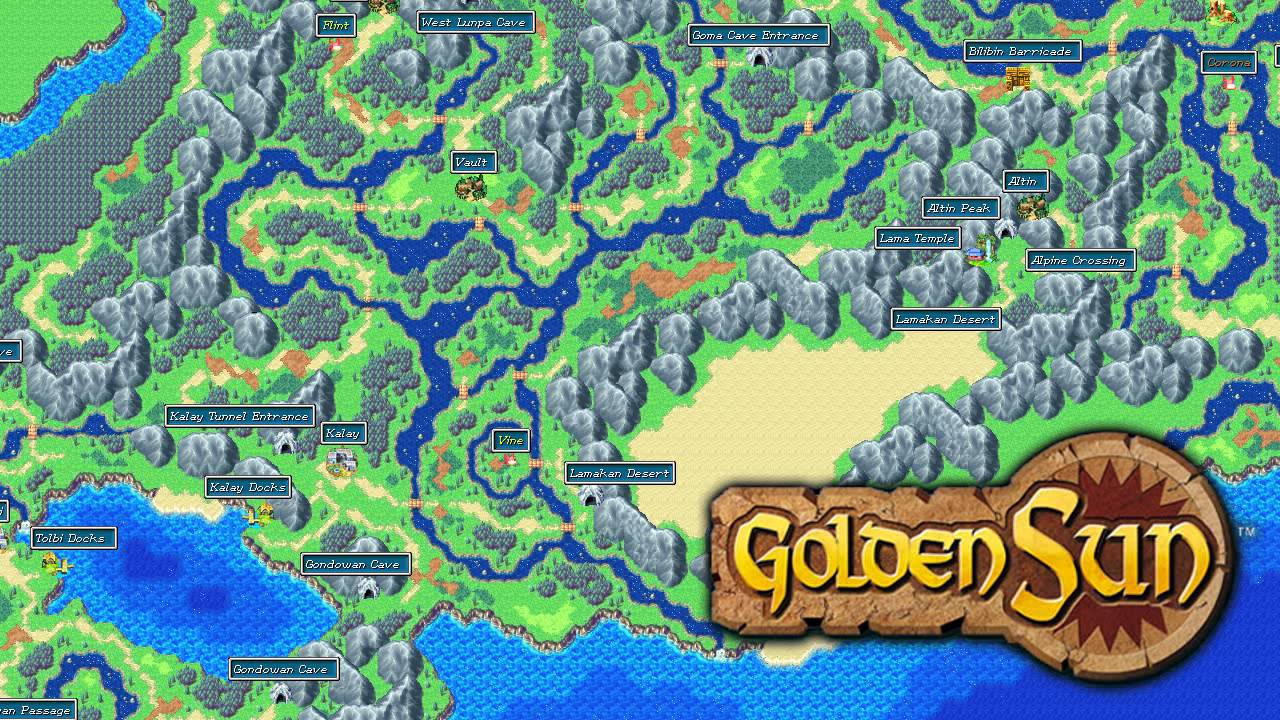 Golden Sun: The Lost Age Sea of Time Direction Map for Game Boy ...