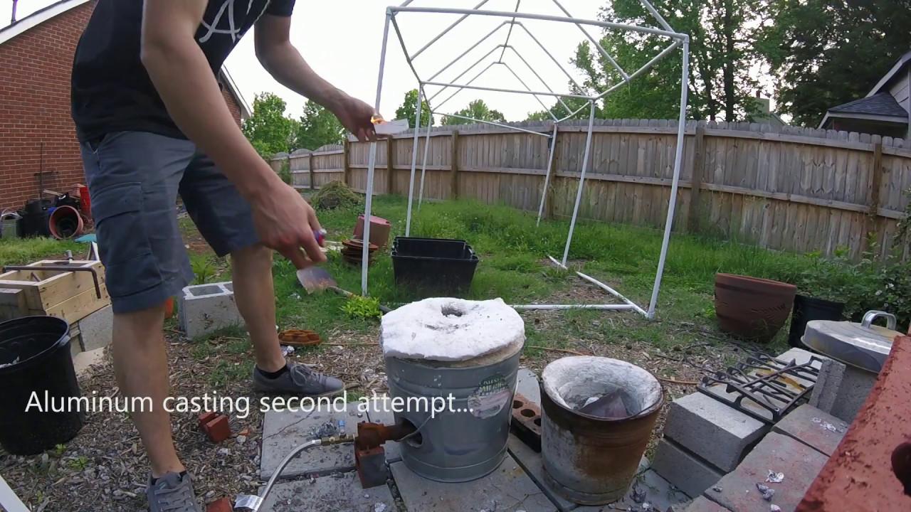 casting aluminum using oil bonded sand youtube