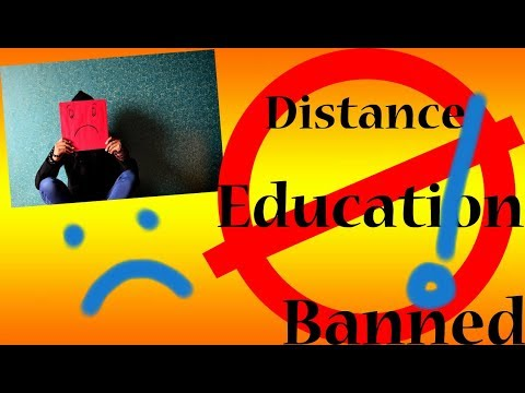 Distance education banned by SC (Supreme Court)