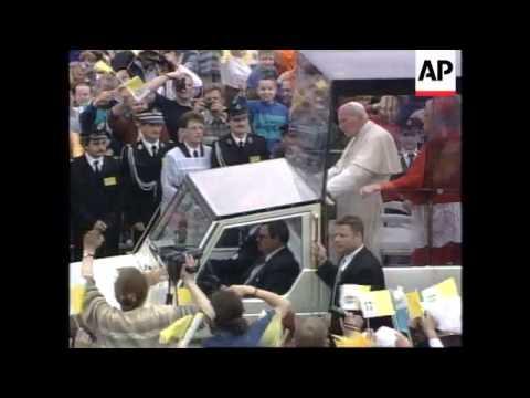 POLAND: KRAKOW: POPE JOHN PAUL II VISIT UPDATE
