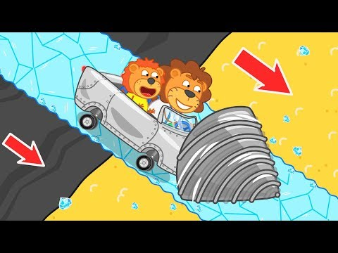 Lion Family Journey to the Center of the Earth – Sand for Baby Orc Cartoon for Kids