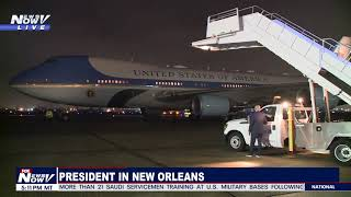 READY FOR FOOTBALL? President, First Lady arrive in NOLA for college championship game
