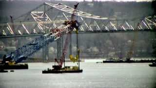 Tappan Zee Bridge Project - Low Crane-by  Michael Sallinger 3-26-2015