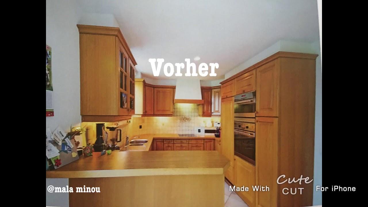Küche Eiche rustikal weiß streichen - YouTube