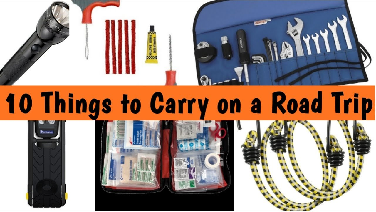 10 Life Saving Things to carry on a Road Trip - YouTube