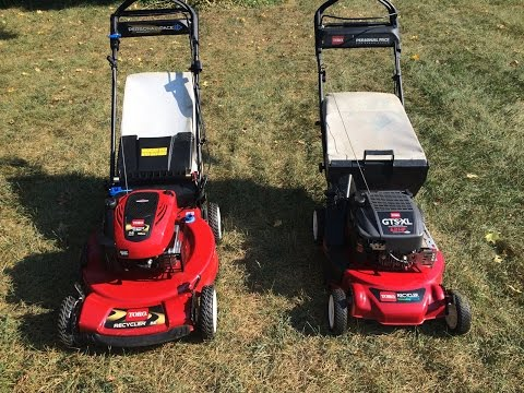 Toro Recycler Personal Pace Lawn Mower Comparison Model 20025 and Model 20333 - September 10, 2015