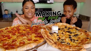 EASY HOMEMADE PIZZA | COOKING & EATING