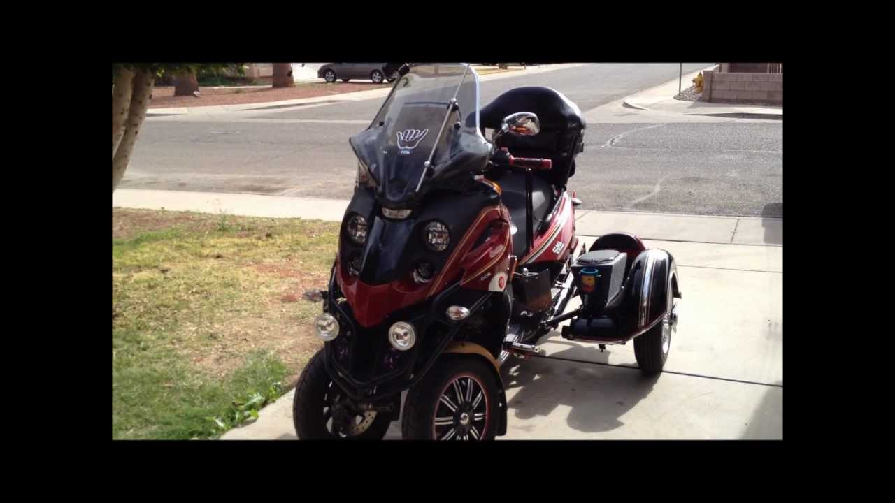 piaggio mp3 500 trike project - youtube