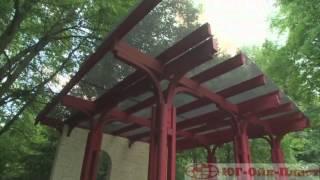 видео Использование раздвижных окон для строительства беседки