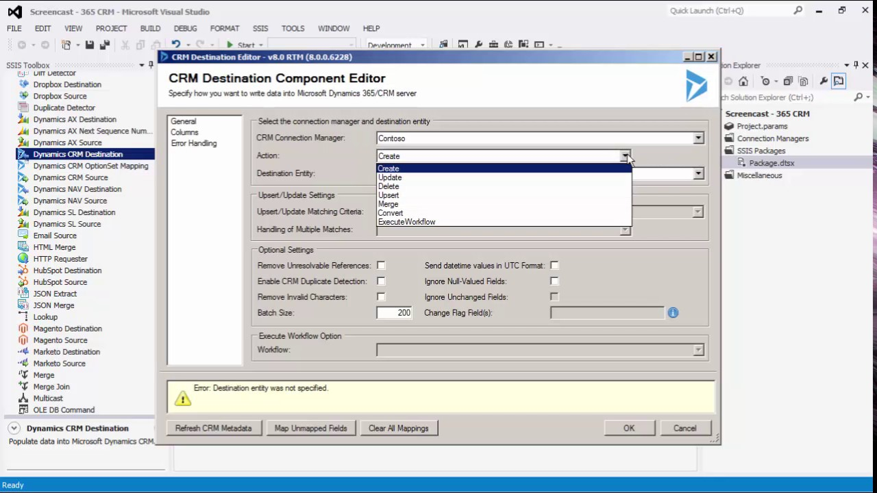 Getting Started with SSIS Integration Toolkit for Microsoft Dynamics 365/CRM