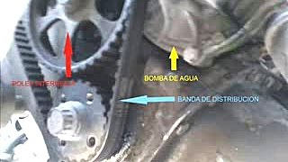 Change water pump pointer cambio de bomba de agua youtube for Cambiar un water