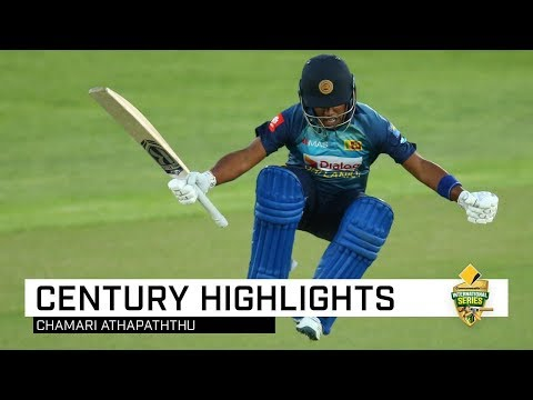 Athapaththu Stuns With Maiden T20I Ton